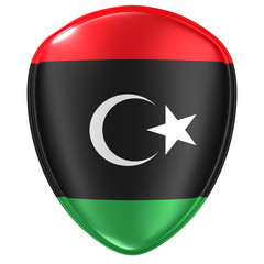 3d rendering of a Libya flag icon.