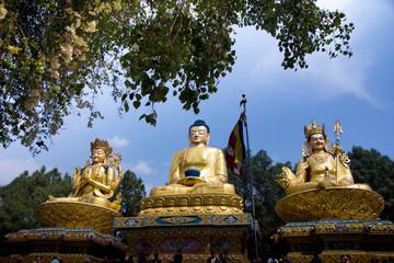 Golden Buddha Statue Nepal