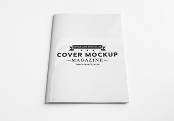 Magazine Cover Mockup on White Background
