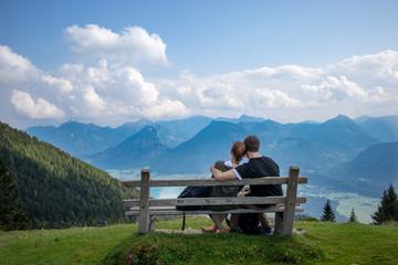 Paar am Berg