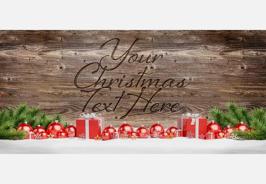 Engraved Christmas Message Mockup