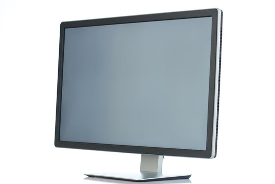 Angle view on pc monitor