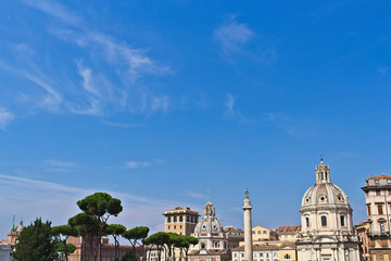 A Rome background travel image with copy space.