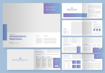 Sponsorship Business Event Proposal Layout with Editable Gradient Elements