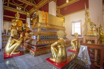 Beautiful Golden Buddha statues at Wat Phra Si Rattana Mahathat also colloquially referred to as Wat Yai is a Buddhist temple (wat) It is a major tourist attraction Phitsanulok,Thailand.