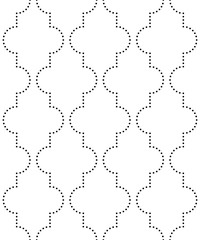 Vector seamless texture. Modern geometric background. Repeating pattern with curly tiles of dots.