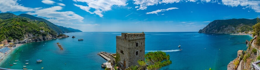 Stores photo Ligurie panorama of Monterosso al mare