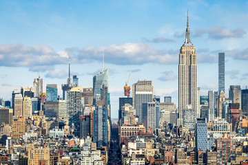 Manhattan Skyline mit Empire State Building, New York City, USA