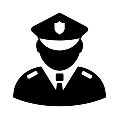 Police officer vector icon