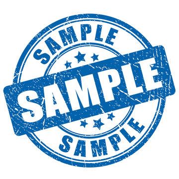 Sample ink rubber stamp