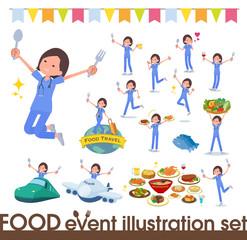 flat type surgical wear women_food festival