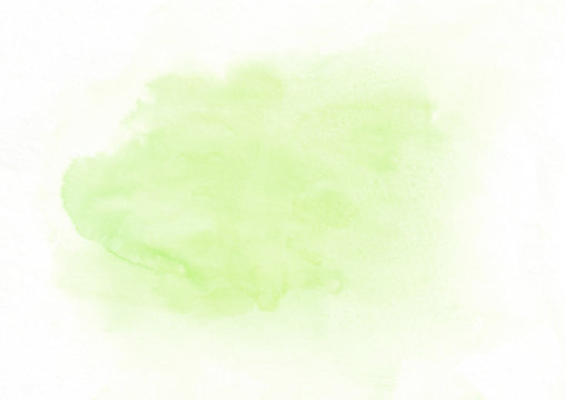 Light green watercolor gradient running stain. Beautiful abstract background for designers, mock-ups, invitations, postcards, canvas for text and congratulations.