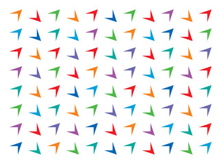 colorful arrows, colorful triangles pattern vector