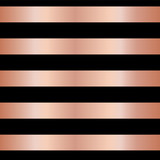 copper rose gold foil stripes on black seamless vector pattern background horizontal metallic shiny lines
