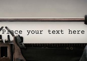 Vintage Typewriter Paper Mockup