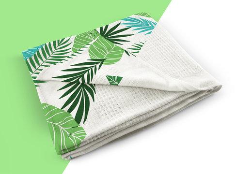 Customizable Blanket Mockup