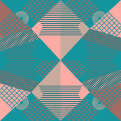 Geometric abstract pattern background. Colorful minimal design vector illustration for wallpaper, fashion, textile print and wrapping. Good also for hijab and scarf or pillow.