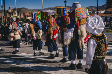A Colorful Peruvian Celebration & Parade In Plaza De Armas