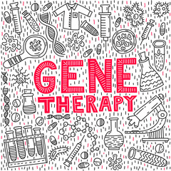 Gene therapy lettering