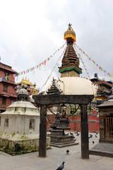 A Japanese temple gate (Torii) at one stupa in Kathmandu