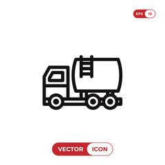 Fuel truck vector icon