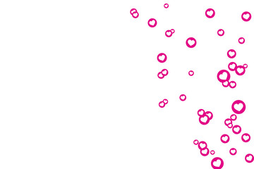 PINK CIRCLES WITH WHITE HEARTS FOR BACKGROUND, CLIPPING PATH INCLUDED
