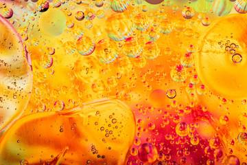 Red Orange Bubble Texture Background