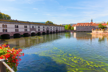 Barrage Vauban at the river Ill in Strasbourg, France