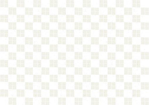 和風背景 市松模様 白 イラスト