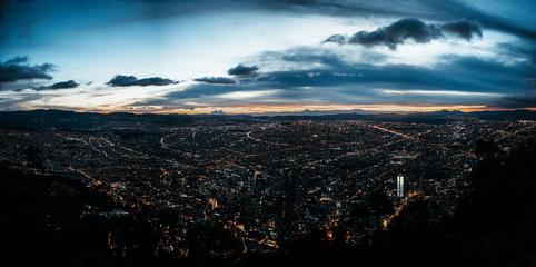 Panorámica Bogotá, Colombia.