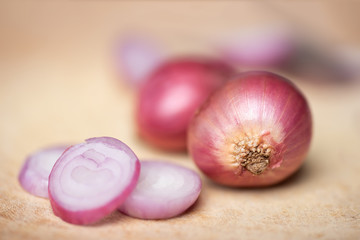 Red shallot onion, herb and spice, food ingredient