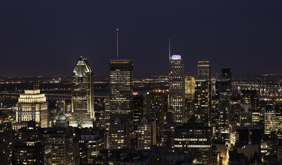 Montreal - Night - Cityscape Wall mural