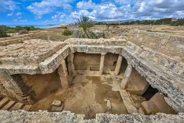 Overview of Tombs of the Kings archaeological excavation