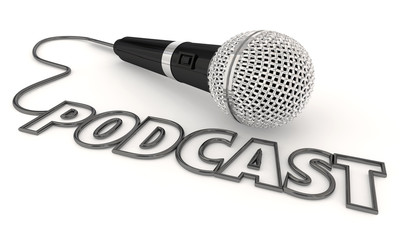 Podcast Mobile Program Show Audio File Microphone 3d Illustration