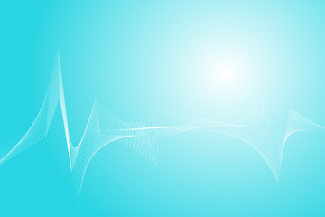 Heart rate wave lines abstract background.