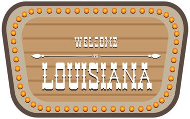 Vintage street sign Louisiana