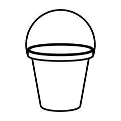 plastic sand bucket icon