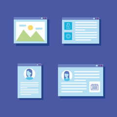 set webpages templates icons
