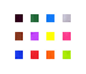 Set of abstract colorful square textures on white