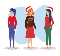group of girls with december clothes