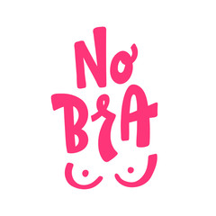 No Bra text vector illustartion. 13 october day.