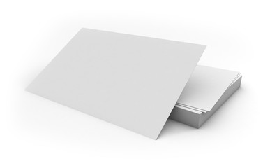 isoalted business cards 3d rendering
