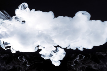 smoke on black background with place for text