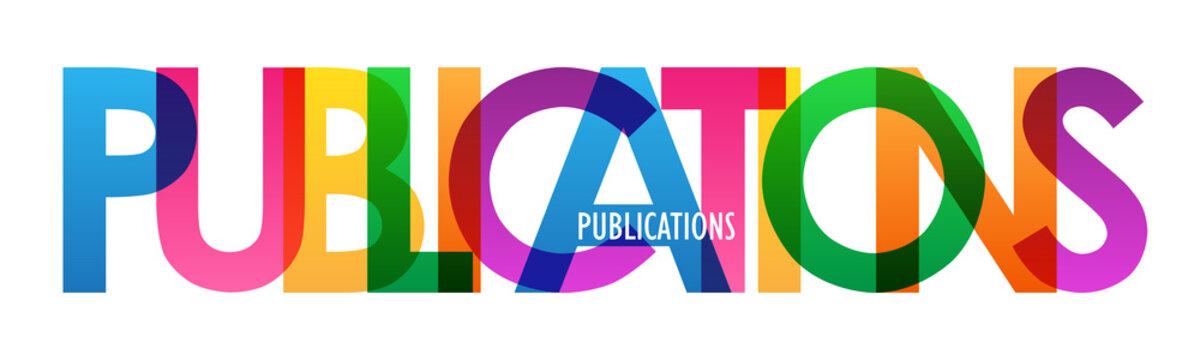 PUBLICATIONS rainbow letters banner