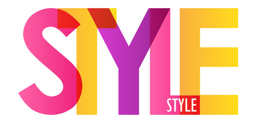 STYLE colorful letters banner