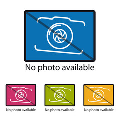 No Photo Available Icon - Colorful Vector Illustration - Isolated On White Background