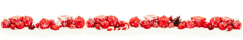 Weihnachten Panorama Banner mit Geschenk