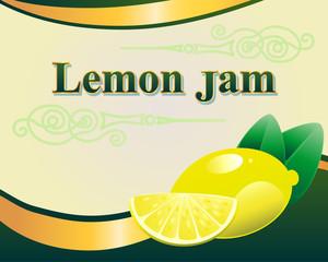 lemon jam label design template