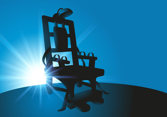 Une chaise électrique pour l'application de la peine de mort encore en vigueur aux État-Unis