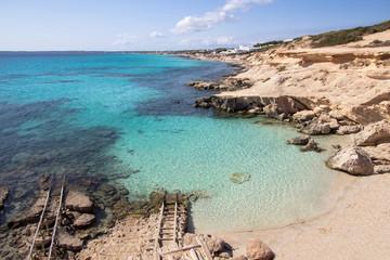 Es Calo des Mort beach, Formentera, Spain